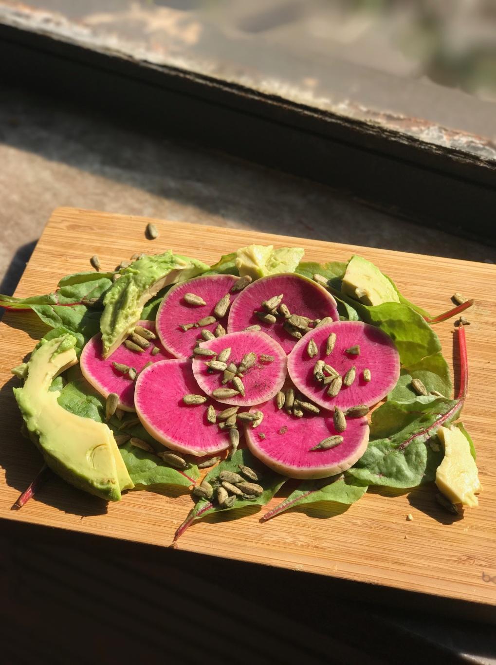 Watermelon Radish Salad With Avocado