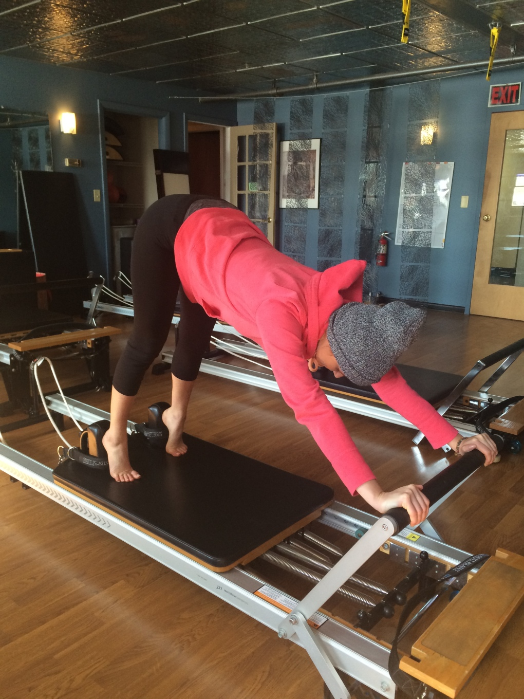Pilates reformer fitness workout